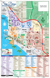 San Diego Downtown Map, San Diego County, CA