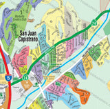 San Juan Capistrano Map, Orange County, CA