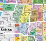 Santa Ana Map NORTH, Orange County, CA