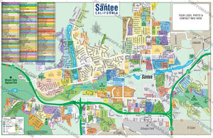 Santee Map, San Diego County, CA
