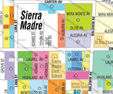 Sierra Madre Map, Los Angeles County, CA