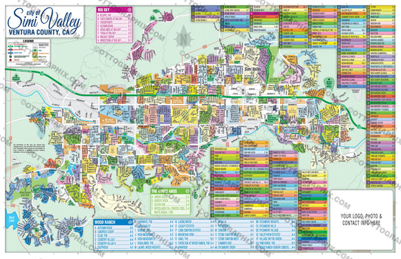 Simi Valley Map, Ventura County, CA