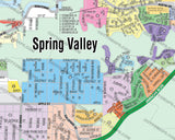 Spring Valley Map, San Diego County, CA