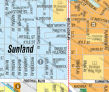 Sunland-Tujunga Map, Los Angeles County, CA