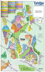 Talega Map - PDF, editable, royalty free