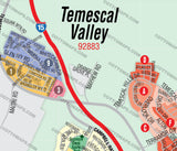 Temescal Valley Map - PDF, editable, royalty free