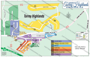 Torrey Highlands Map, San Diego County, CA
