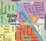 Valley Glen Map - PDF, editable, royalty free