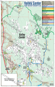 Valley Center Map, San Diego County, CA