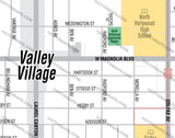 Valley Village Map - PDF, editable, royalty free