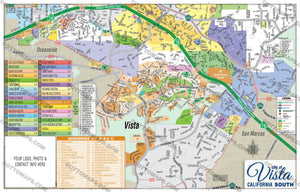 Vista Map - PDF, editable, royalty free