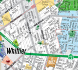 Whittier Map, Los Angeles County, CA