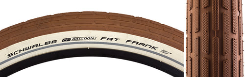Fat Frank Active Twin KG Tire - Brown / White / Reflective