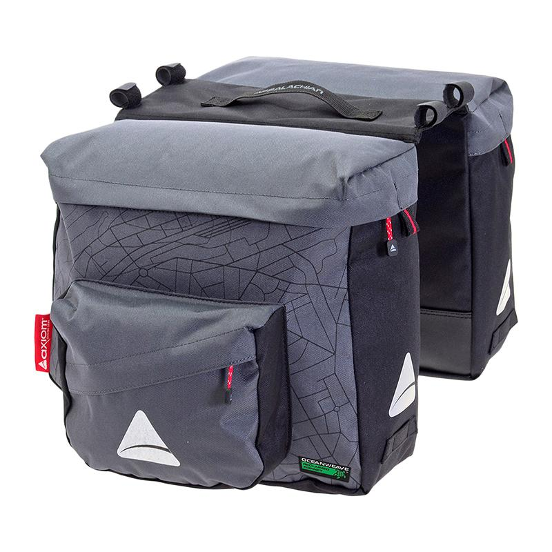 Axiom Seymour O-Weave Pannier Grey/Blk