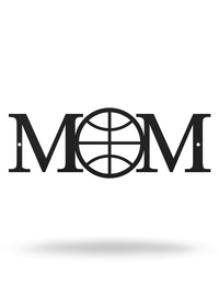 "Steel Roots Decor 12"" / Black Basketball Mom"