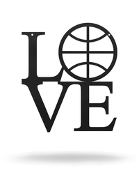 "Steel Roots Decor 12"" / Black I Love Basketball"