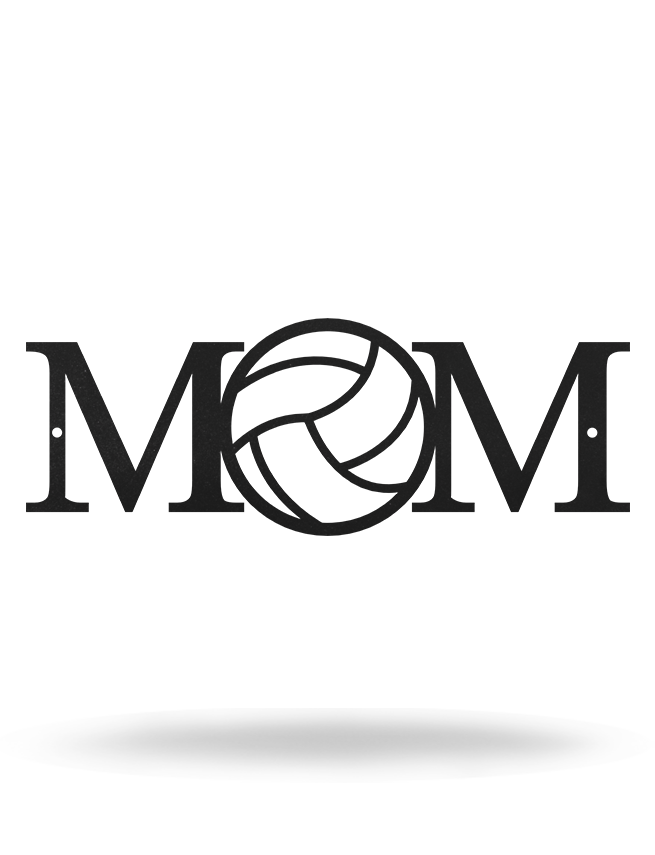 "Steel Roots Decor 12"" / Black Volleyball Mom"