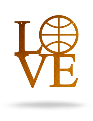 "Steel Roots Decor 12"" / Copper I Love Basketball"