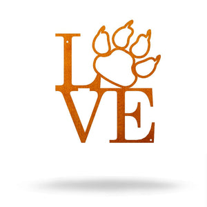 Steel Roots Decor 8 / Copper Cat Paw Love