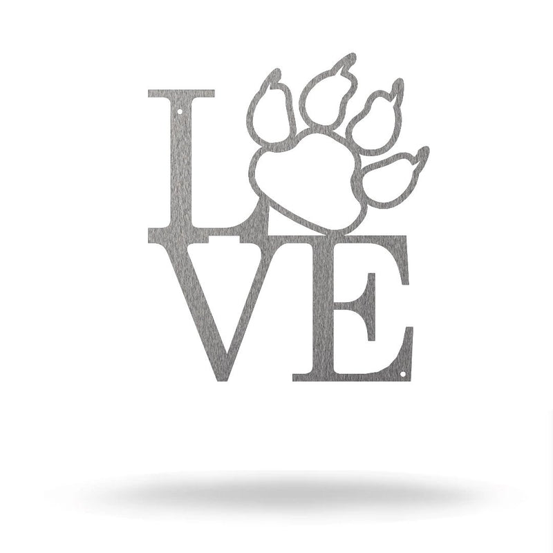 Steel Roots Decor 8 / Silver Cat Paw Love