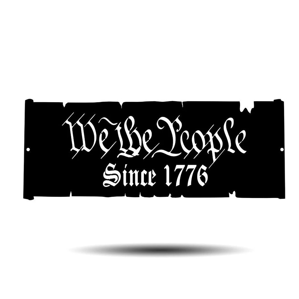 "Steel Roots Decor Americana Black / 18"" We The People Plaque"