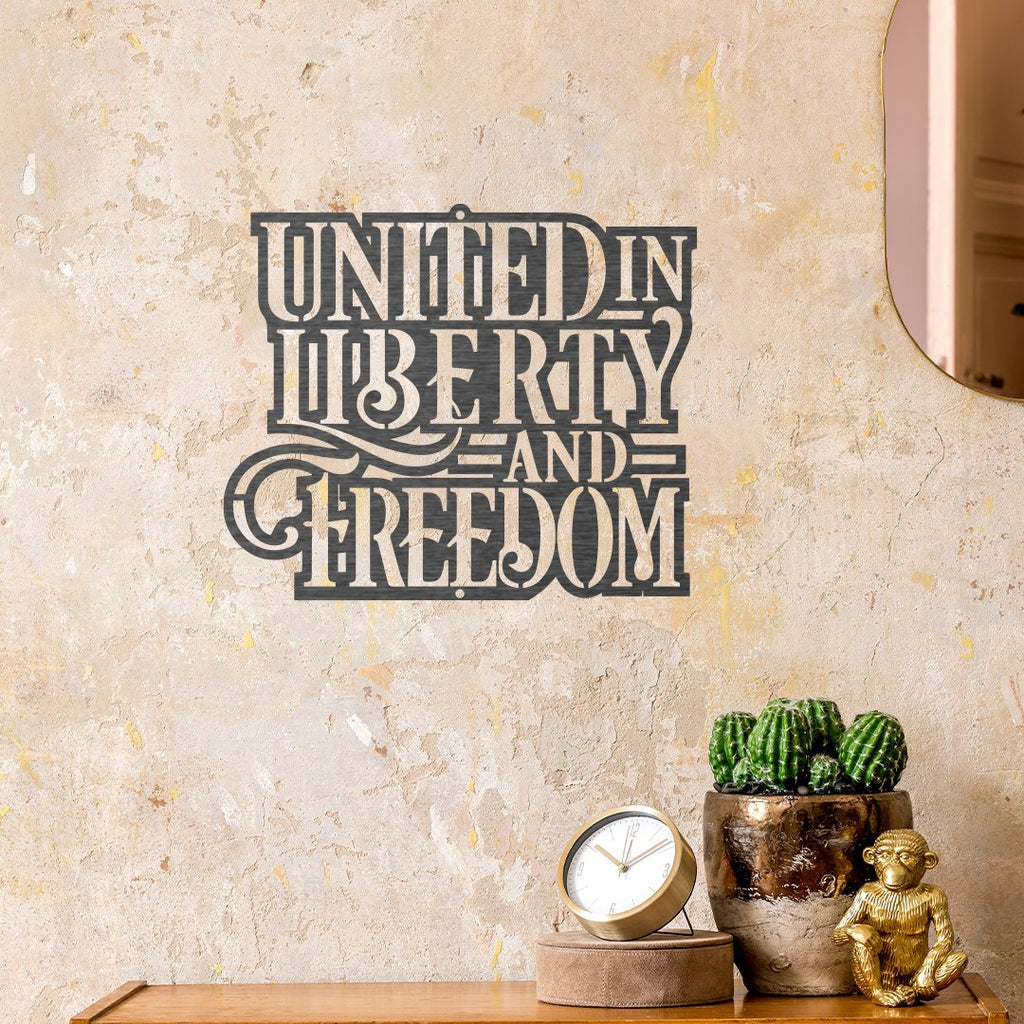 Steel Roots Decor Americana United In Liberty & Freedom