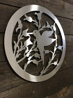 "Steel Roots Decor ""Hummingbird Flower"" Wall Décor"