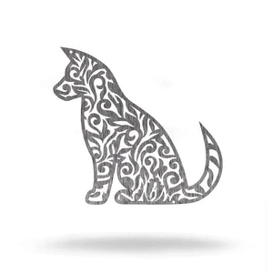 "Steel Roots Decor Pet Decor Polished Charcoal / 12"" Dog Monogram"