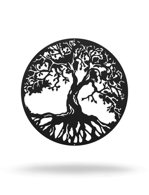 "Steel Roots Decor Under 20 12"" / Black 12"" Tree Of Life"