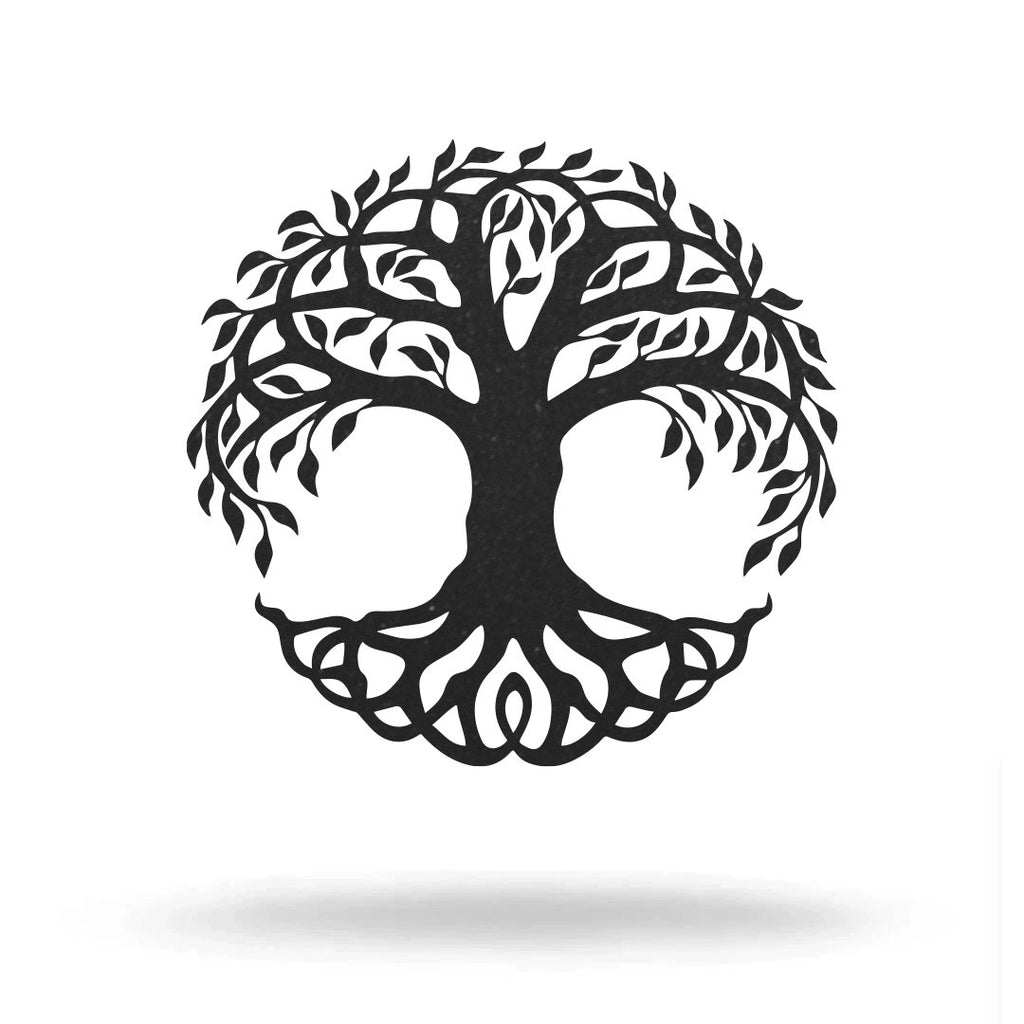 "Steel Roots Decor Under 20 12"" / Black Tree Of Life"