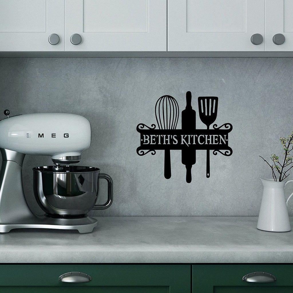"Steel Roots Decor Wall Decor 12"" Kitchen monogram"