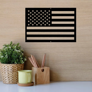 "Steel Roots Decor Wall Decor 18"" Americana America Flag Backed"