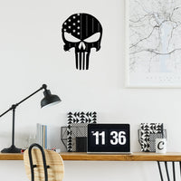 "Steel Roots Decor Wall Decor 18"" Americana Punisher Flag Backed"