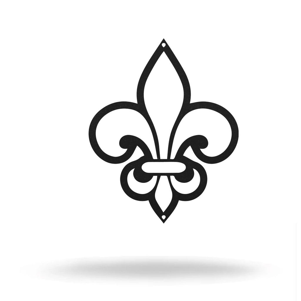 "Steel Roots Decor Wall Decor 8"" / Black Fleur De Lis"