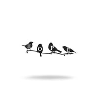 "Steel Roots Decor Wall Decor 8"" / Black Hope Birds"