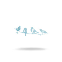 "Steel Roots Decor Wall Decor 8"" / Metallic Blue Hope Birds"