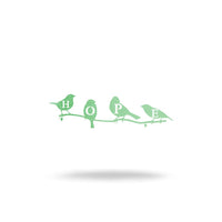 "Steel Roots Decor Wall Decor 8"" / Pastel Green Hope Birds"