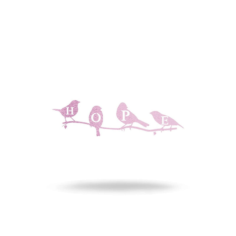 "Steel Roots Decor Wall Decor 8"" / Pastel Pink Hope Birds"