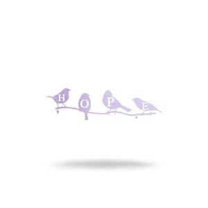 "Steel Roots Decor Wall Decor 8"" / Pastel Purple Hope Birds"
