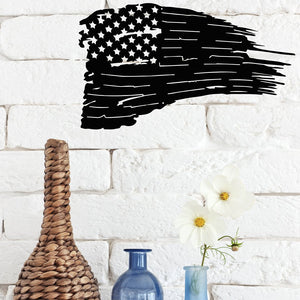 Steel Roots Decor Wall Decor Americana Distressed Flag Backed