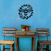 Steel Roots Decor Wall Decor Bee Wreath