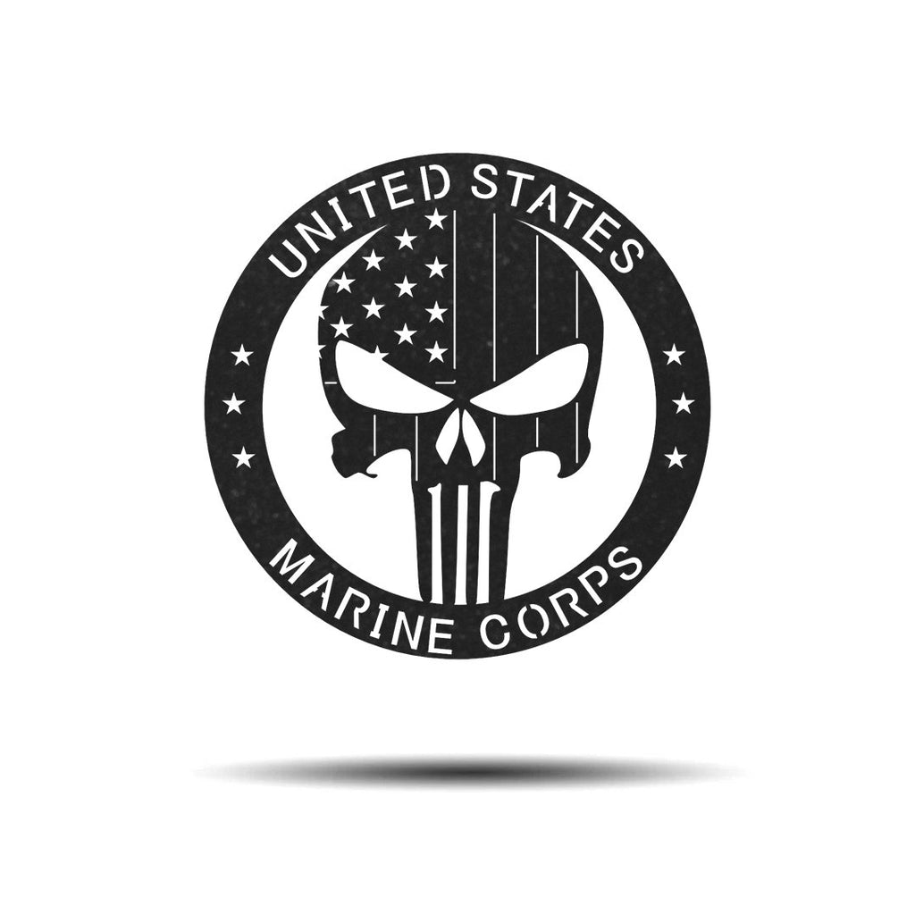 "Steel Roots Decor Wall Decor Black / 18"" Punisher Marine Seal"