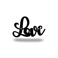 Steel Roots Decor Wall Decor Black Cursive Love *Under $10