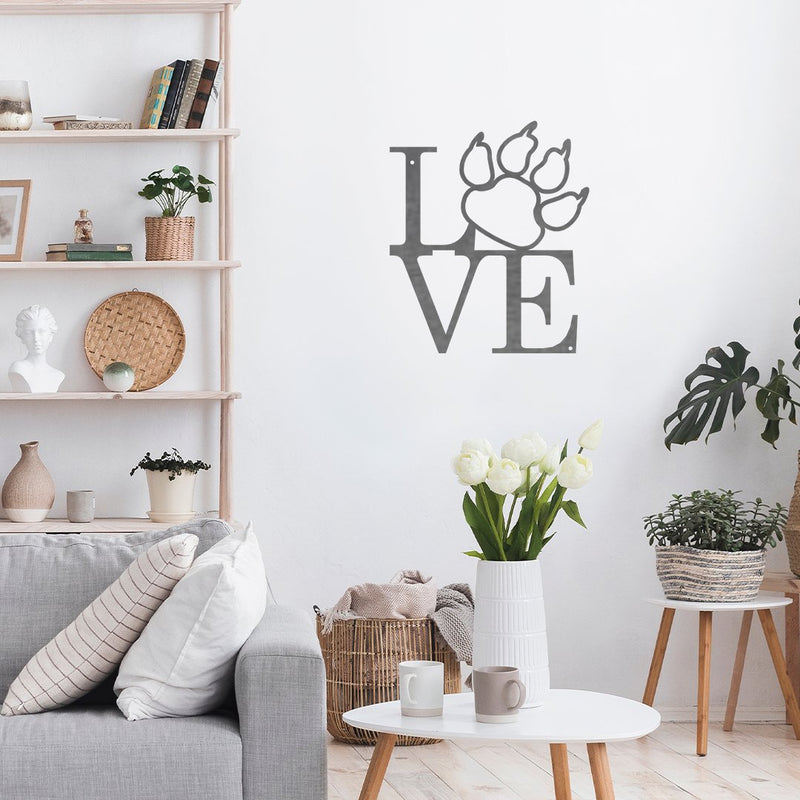 Steel Roots Decor Wall Decor Cat Paw Love