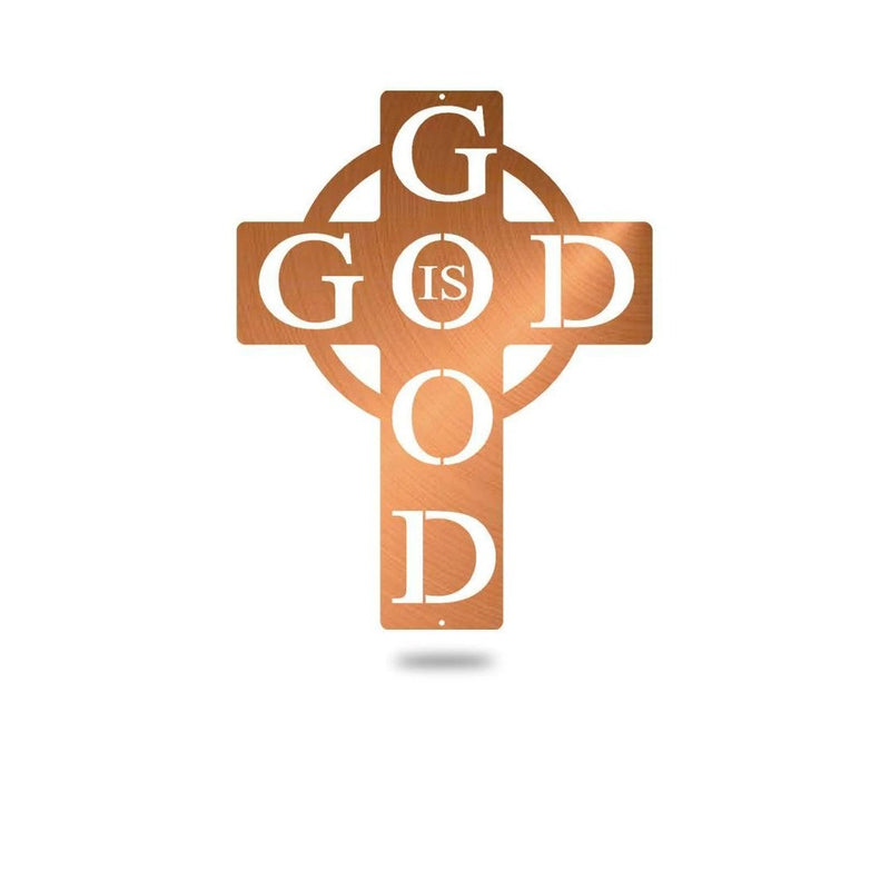 "Steel Roots Decor Wall Decor Copper / 12"" God is Good"