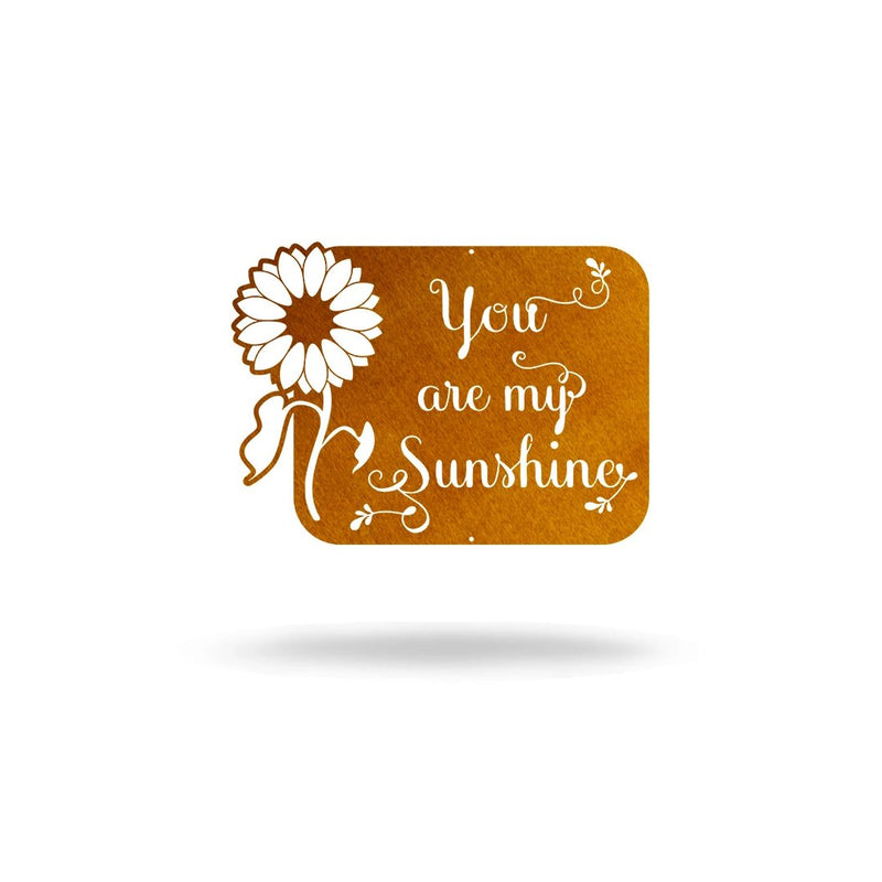 "Steel Roots Decor Wall Decor Copper / 12"" ""You are my sunshine"" Sunflower"