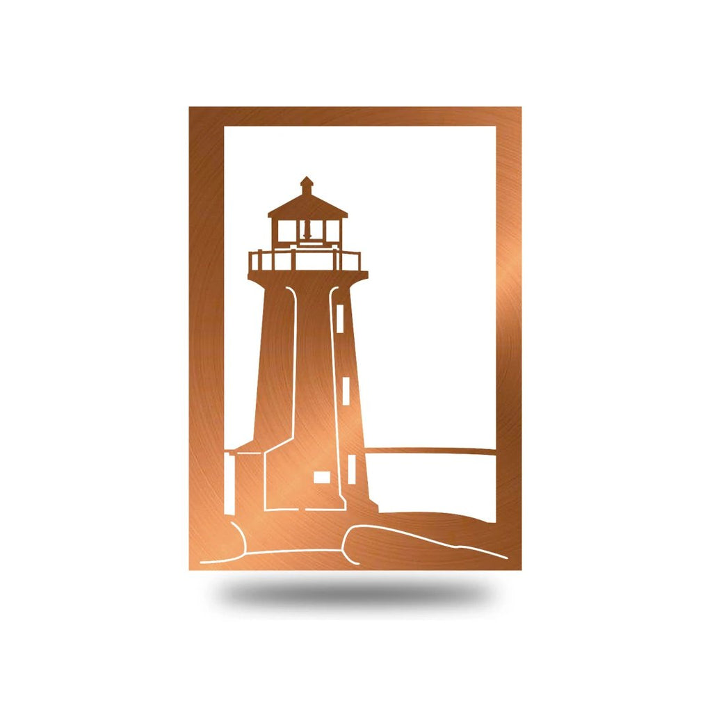 "Steel Roots Decor Wall Decor Copper / 18"" Lighthouse"