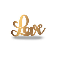 Steel Roots Decor Wall Decor Copper Cursive Love *Under $10