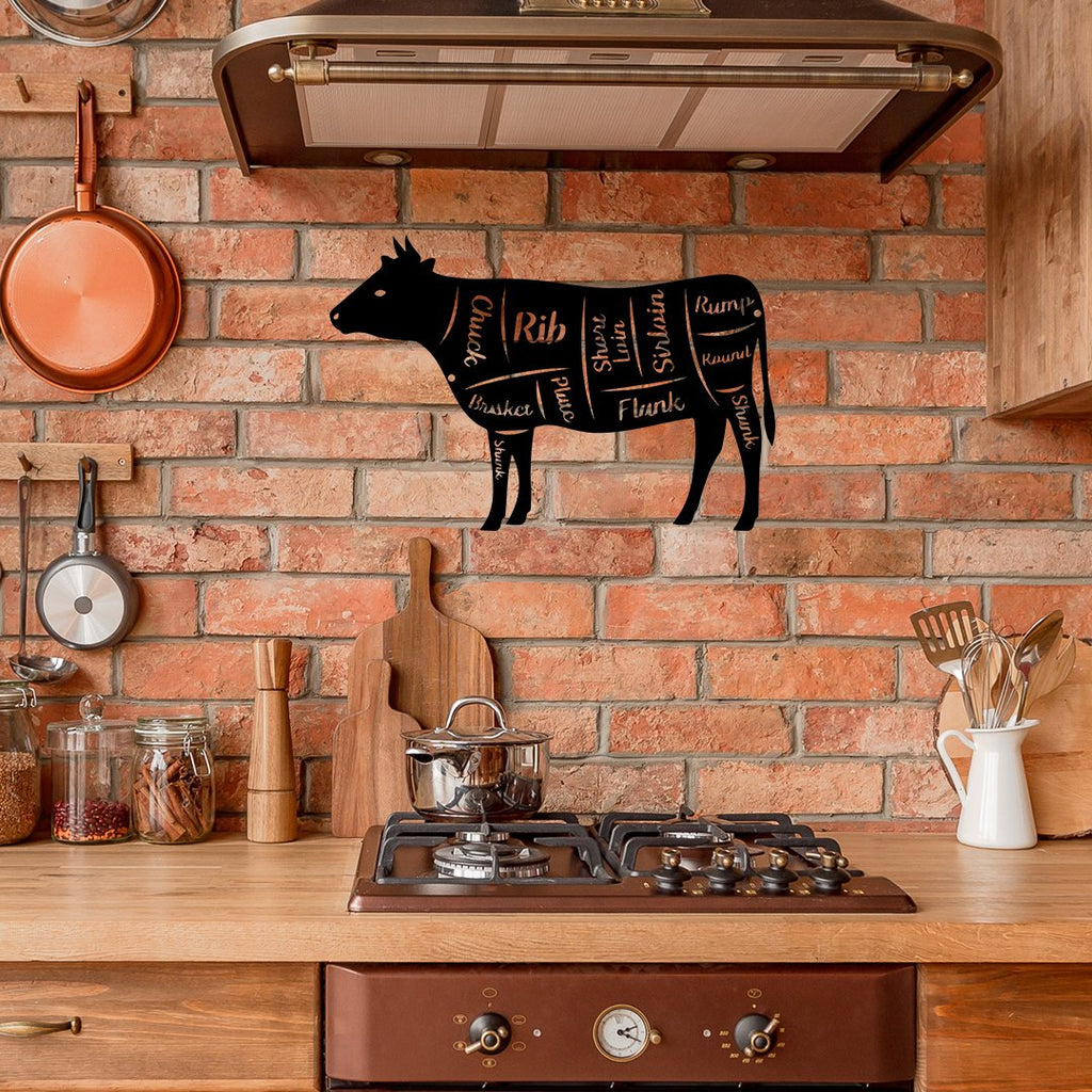 Steel Roots Decor Wall Decor COW