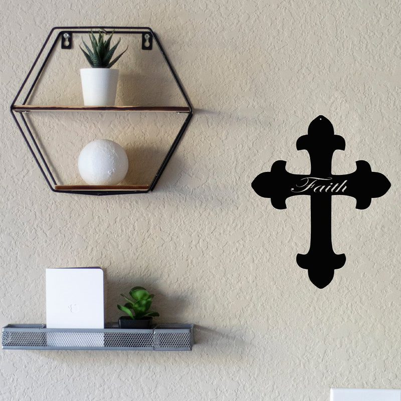 Steel Roots Decor Wall Decor Faith Cross Metal Wall Art